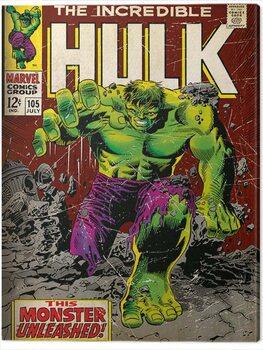 Canvastavla Incredible Hulk - Monster Unleashed