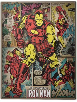 Canvastavla Iron Man - Retro