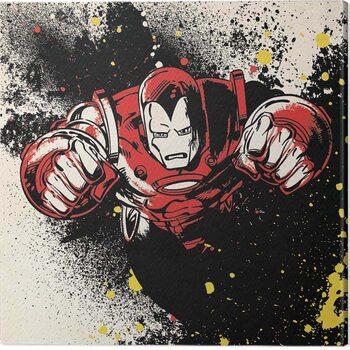 Canvastavla Iron-Man - Splatter