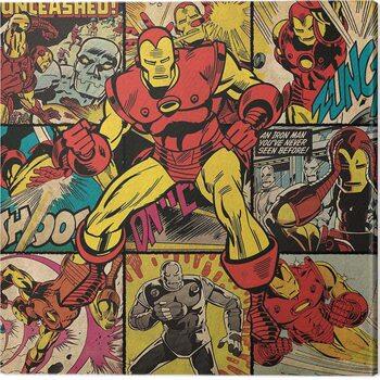 Canvastavla Iron Man - Squares