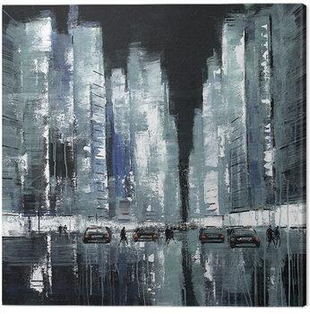 Canvastavla Jon Barker - New York Never Stops