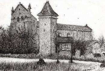 Canvastavla L'Abbeye Blassimon France, 2010,