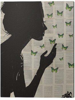 Canvastavla Loui Jover - Simplicity - Green