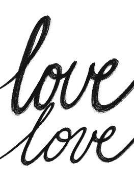Canvastavla Love Love