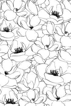 Canvastavla Magnolias