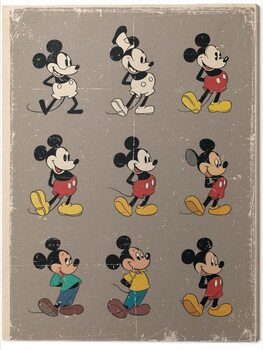 Canvastavla Mickey Mouse - Evolution