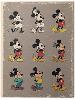 Canvastavla Mickey Mouse Evolution - Retro