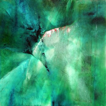 Canvastavla moody blue in green