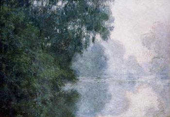 Canvastavla Morning on the Seine, Effect of Mist; Matinee sur la Seine, Effet de Brume