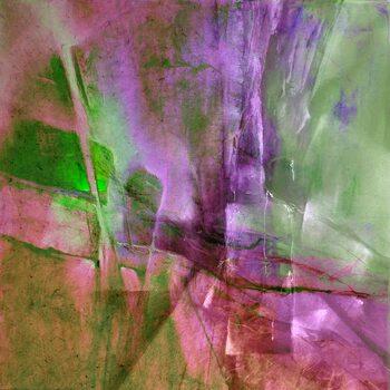 Canvastavla Pas de deux - green and purple