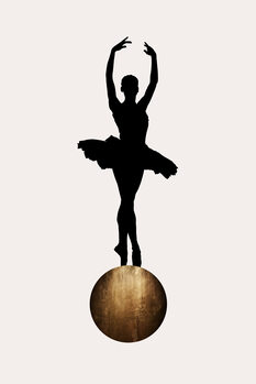 Canvastavla Prima Ballerina GOLD