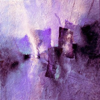 Canvastavla purple tidal rhythms