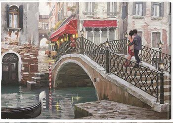 Canvastavla Richard Macneil - Venice Bridge