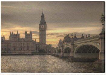 Canvastavla Rod Edwards - Autumn Skies, London, England