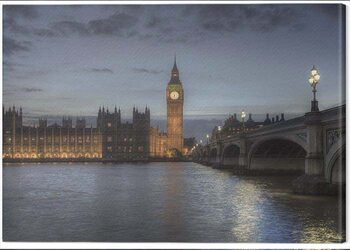 Canvastavla Rod Edwards - Twilight, London, England