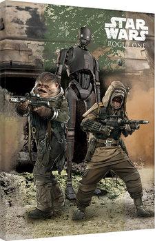 Canvastavla Rogue One: Star Wars Story - Pao, Bistan & K-2S0