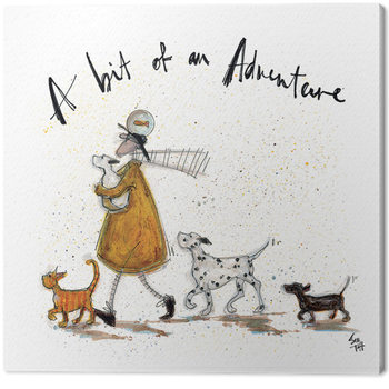Canvastavla Sam Toft - A Bit of an Adventure