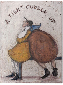 Canvastavla Sam Toft - A Right Cuddle Up