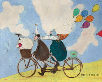 Canvastavla Sam Toft - Be Who You Be