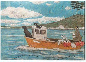 Canvastavla Sam Toft - Dogger, Fisher, Light Vessel Automatic