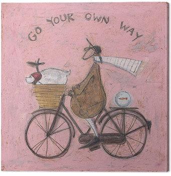 Canvastavla Sam Toft - Go Your Own Way