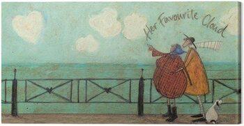 Canvastavla Sam Toft - Her favourite cloud II
