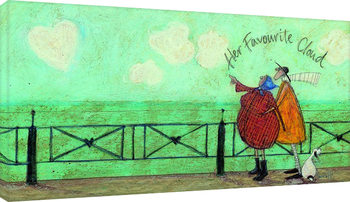 Canvastavla Sam Toft - Her favourite cloud II