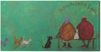 Canvastavla Sam Toft - Putting the words to right