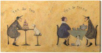 Canvastavla Sam Toft - Tea For Two, Tea For Three