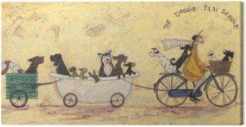 Canvastavla Sam Toft - The Doggie Taxi Service