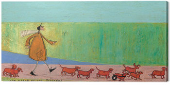 Canvastavla Sam Toft - The March of the Sausages