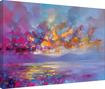 Canvastavla Scott Naismith - Magenta Refraction