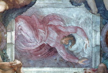 Canvastavla Sistine Chapel Ceiling: God Dividing Light from Darkness
