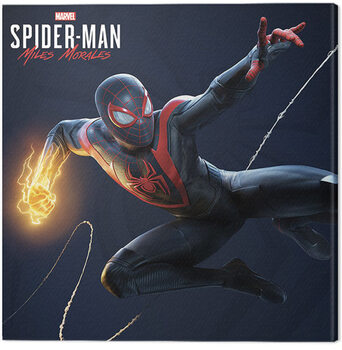 Canvastavla Spider-Man Miles Morales - Electric Fist Swing