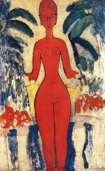 Canvastavla Standing Nude