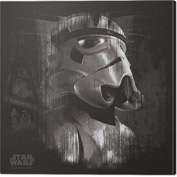 Canvastavla Star Wars: Rogue One - Stormtrooper Trooper Black