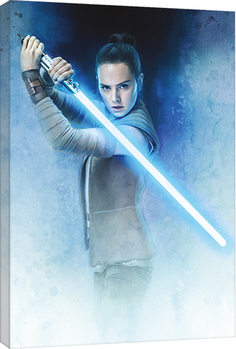 Canvastavla Star Wars: The Last Jedi - Rey Lightsaber Guard