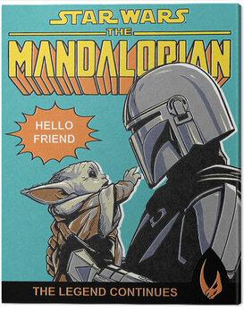 Canvastavla Star Wars: The Mandalorian - Hello Friend