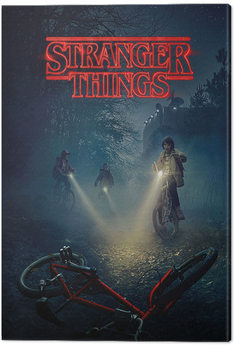 Canvastavla Stranger Things - Bike