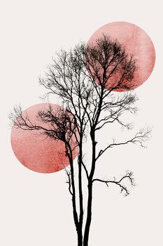 Canvastavla Sun and Moon hiding ROSÈ