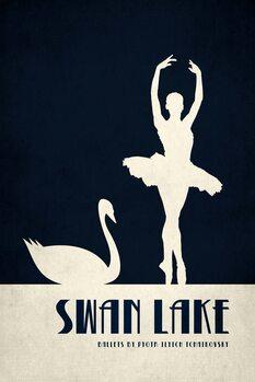 Canvastavla Swan Lake