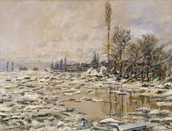 Canvastavla The Break-up of the Ice, 1880