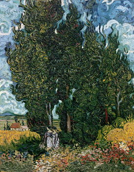 Canvastavla The cypresses, c.1889-90