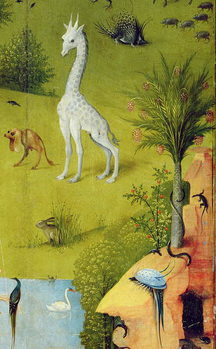 Canvastavla The Garden of Earthly Delights, 1490-1500