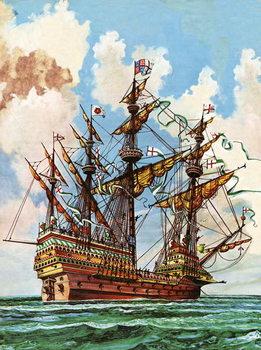 Canvastavla The Great Harry, flagship of King Henry VIII's fleet