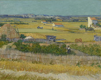 Canvastavla The Harvest, 1888