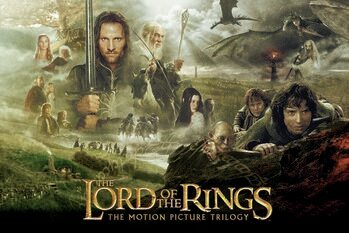 Canvastavla The Lord of the Rings - Trilogi