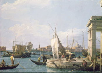 Canvastavla The Punta della Dogana, 1730