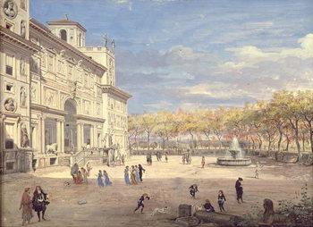Canvastavla The Villa Medici, Rome, 1685