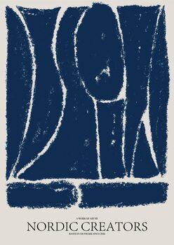 Canvastavla Things fall apart - Blue